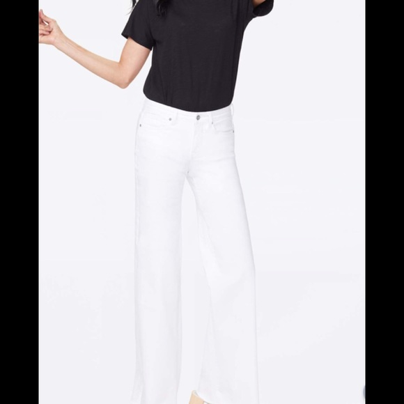 NWT NYDJ Wide Leg Trouser Jeans SZ 8 Short